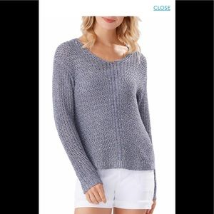 Gea Mesa V-neck Women's Sweater XL Gray Color